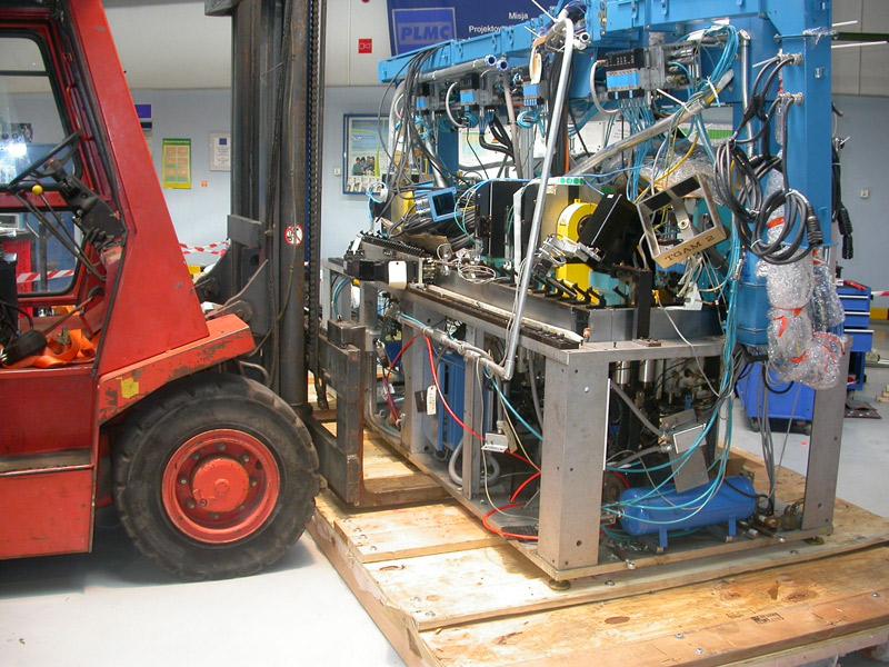 Zabezpieczanie maszyny przed transportem - Inrel